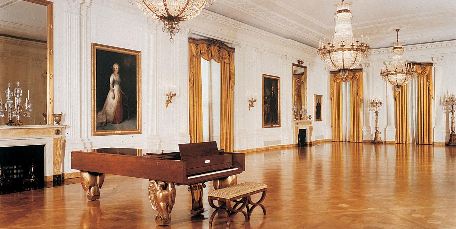 công trình tân cổ điển Nhà Trắng, tại lối đi vào
