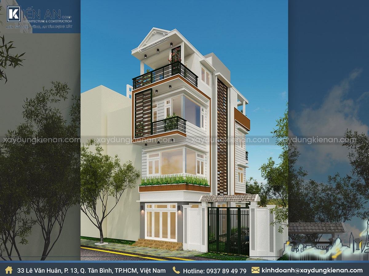 thiết kế nhà phố theo phong cách hiện đại