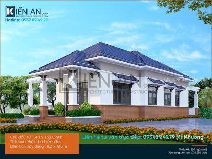 Top 3 mẫu biệt thự mái thái đẹp có sân vườn tại Kiến An