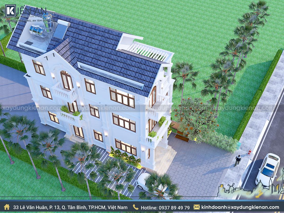 Mẫu thiết kế biệt thự 3 tầng ở nông thôn