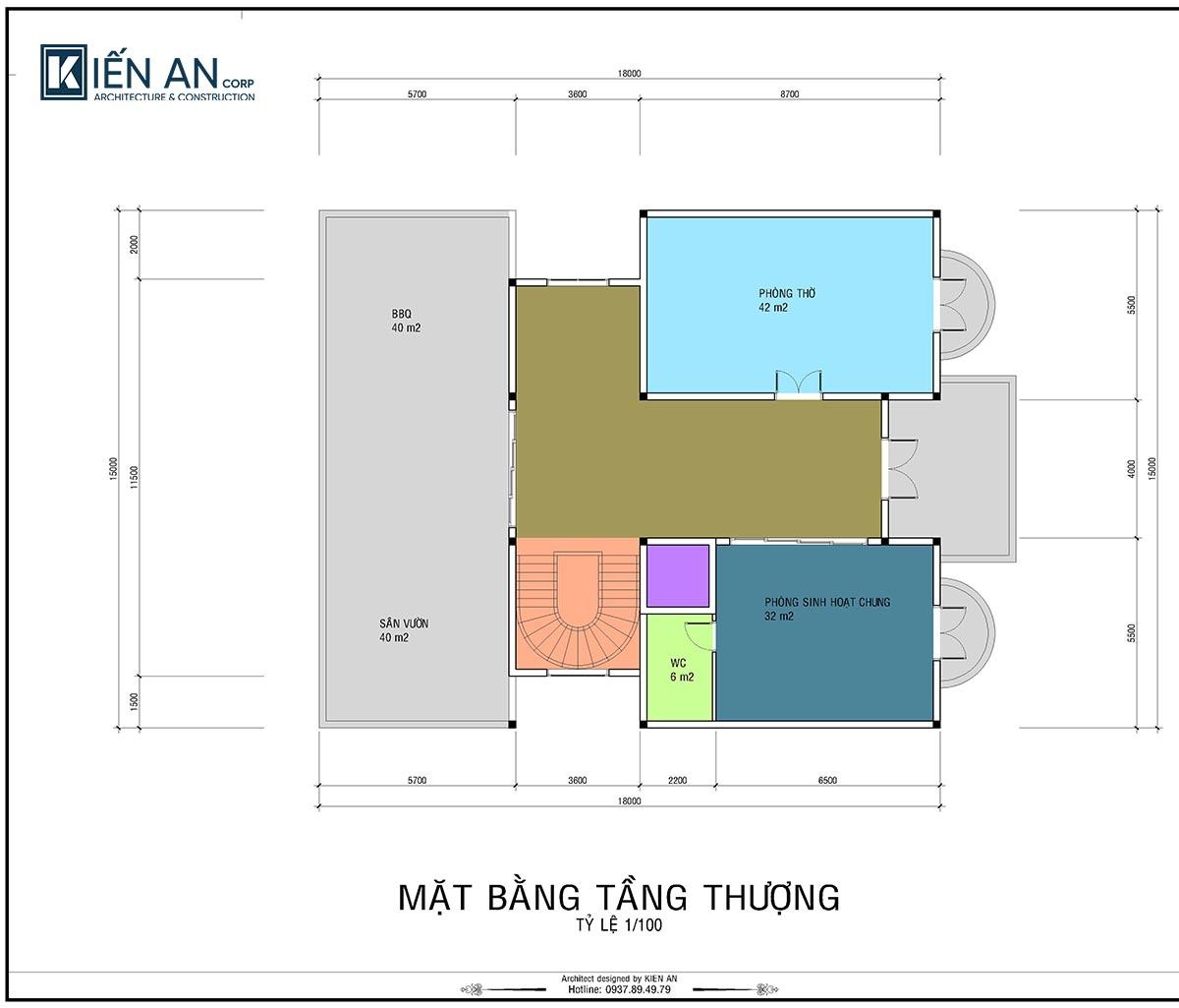Bản vẽ mặt bằng mẫu thiết kế biệt thự cổ điển 4 tầng