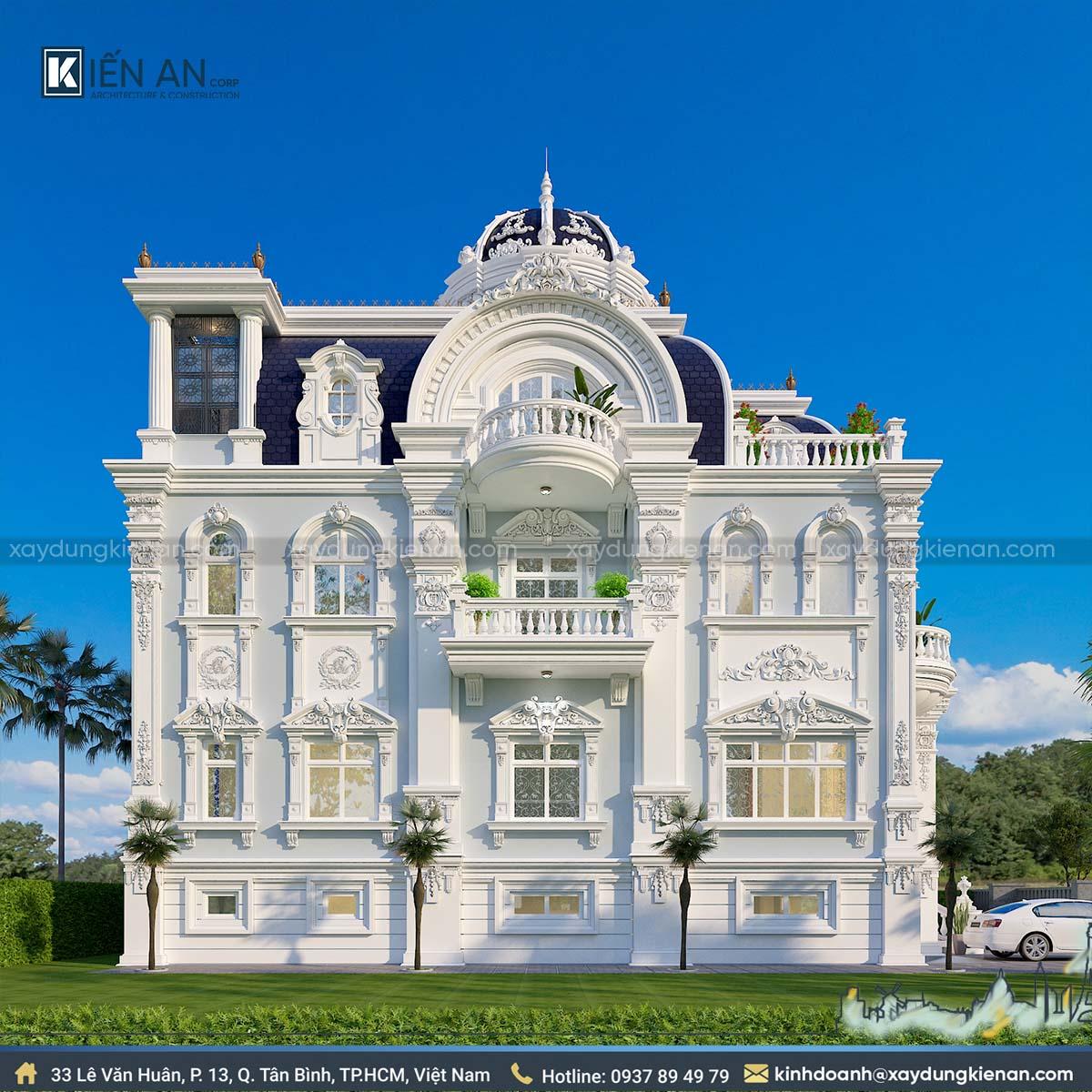 biệt thự lâu đài kiểu pháp