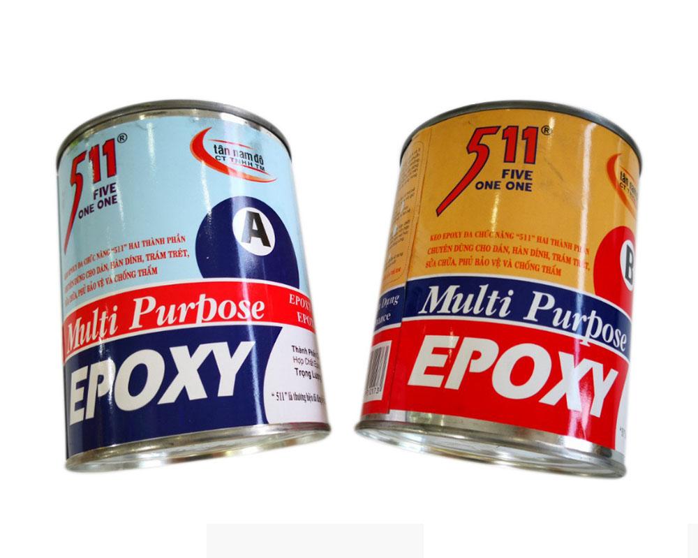 Keo Epoxy dán kim loại