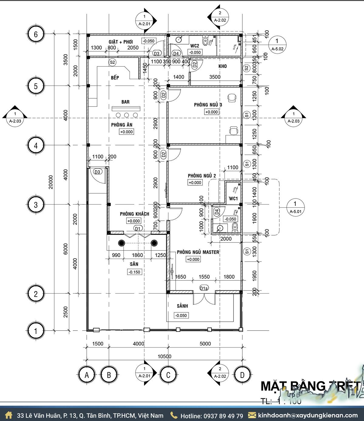 Bản vẽ mẫu thiết kế nhà cấp 4 mái thái
