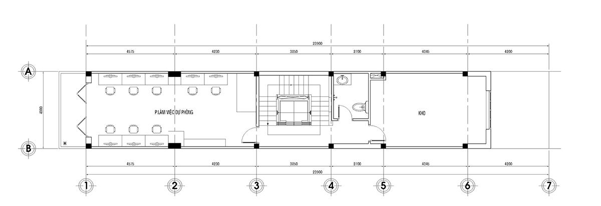 Thiết kế nhà ở kết hợp văn phòng