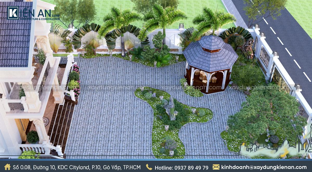 Sân vườn biệt thự tân cổ điển